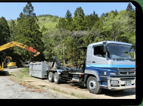 林業部門 アームロール車